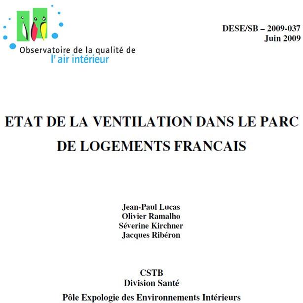 Etat de la ventilation dans le parc de logements français