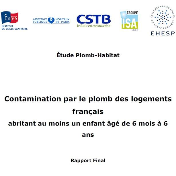 Contamination par le plomb des logements français abritant au moins un enfant âgé de 6 mois à 6 ans