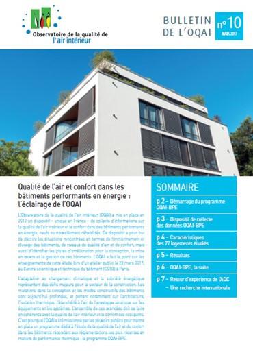 Qualité de l'air et confort dans les bâtiments performants en énergie