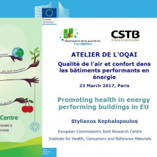 Présentation - Promoting health in energy performing buildings in EU -Stylianos Kephalopoulos