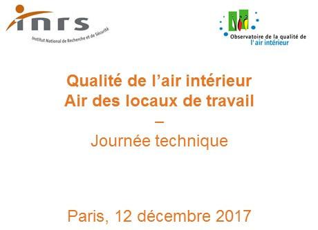 Journée technique INRS/OQAI : Air des locaux de travail