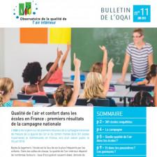 Qualité de l'air et confort dans les écoles en France : premiers résultats de la campagne nationale