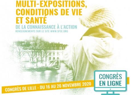 Congrès de la SFSE : du 16 au 20 novembre 2020 (En ligne)